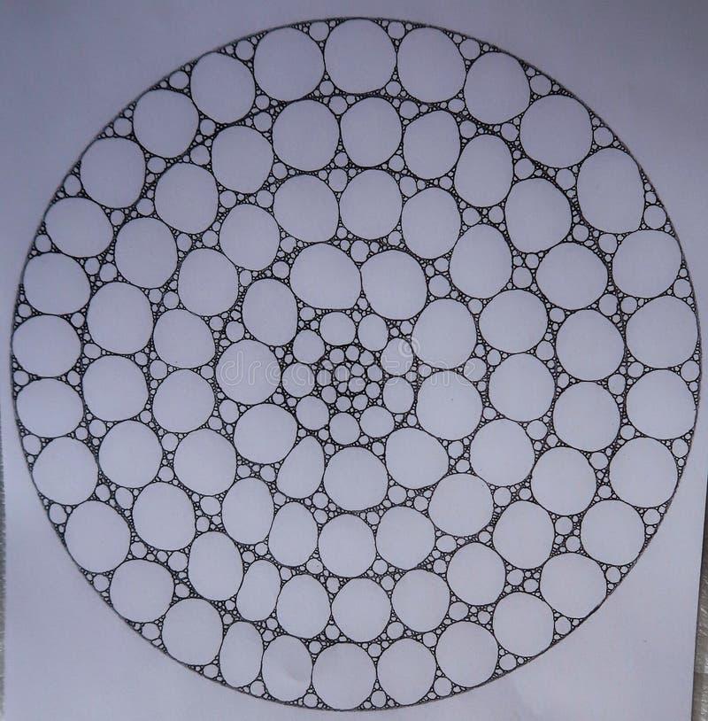 Círculos feitos dos círculos e das elipses imagens de stock