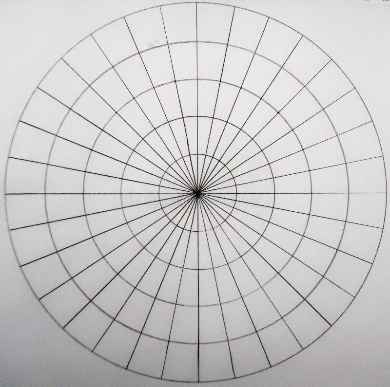 Círculos feitos dos círculos e dos ligns imagens de stock