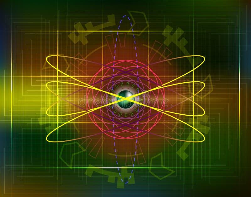Círculos futuros futuristas do fi do sci com tecnologia e bu do Internet ilustração do vetor