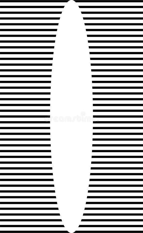Círculos geométricos abstractos blancos y negros modelo inconsútil, vector stock de ilustración
