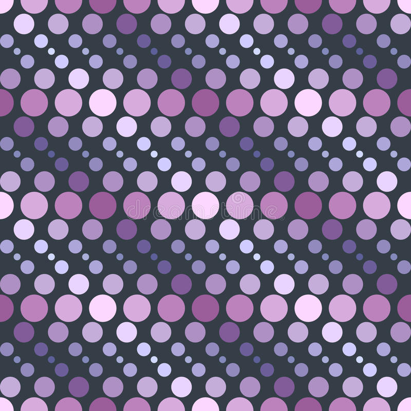 Círculos geométricos simples do teste padrão 2b ilustração stock