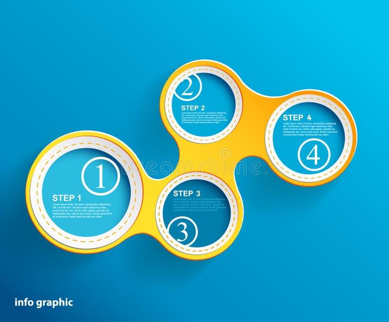 Círculos gráficos de la información con el lugar para su texto. stock de ilustración