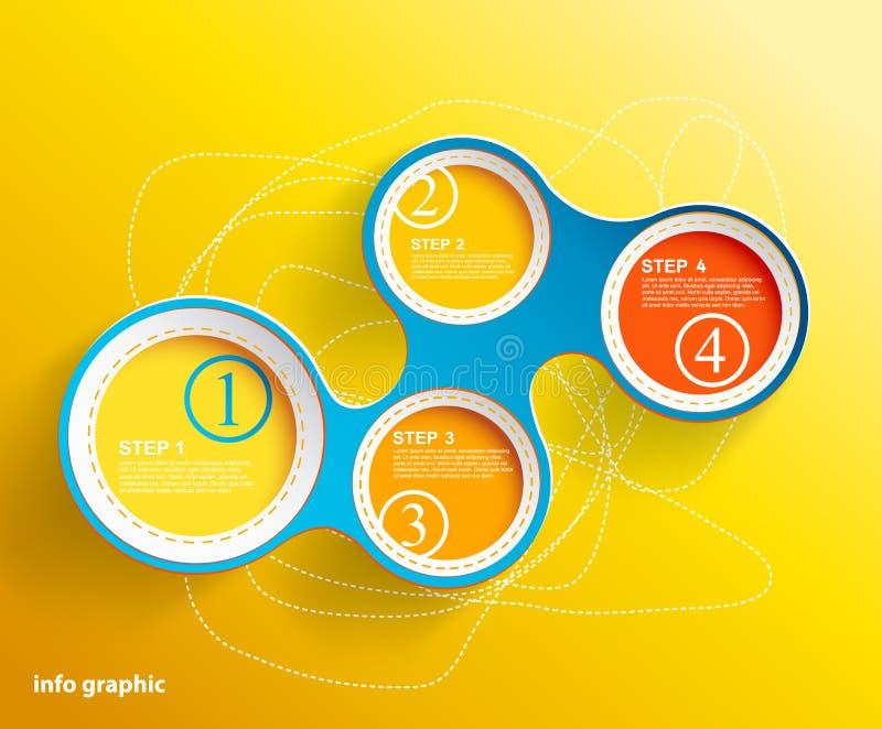 Círculos gráficos de la información con el lugar para su texto. ilustración del vector