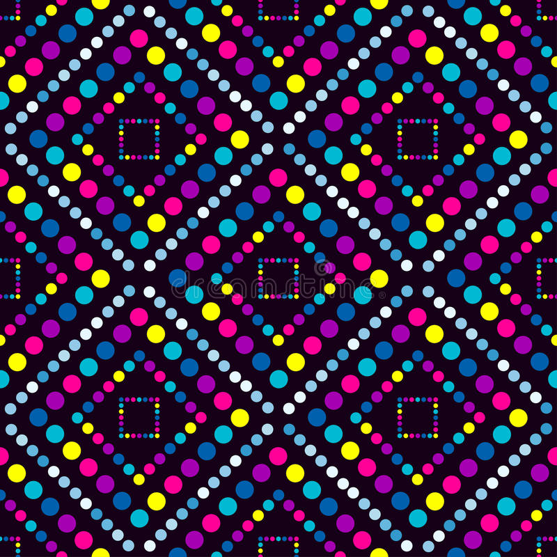 Círculos grandes y pequeño modelo inconsútil geométrico libre illustration