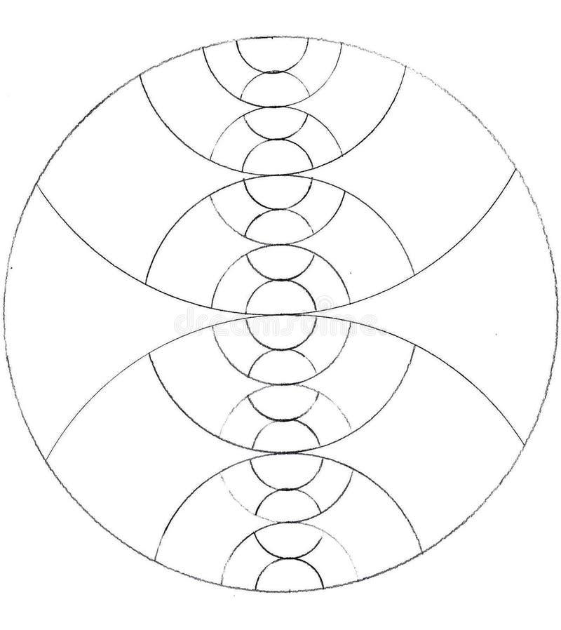 Círculos hechos de círculos ilustración del vector