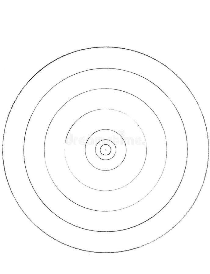 Círculos hechos de círculos libre illustration