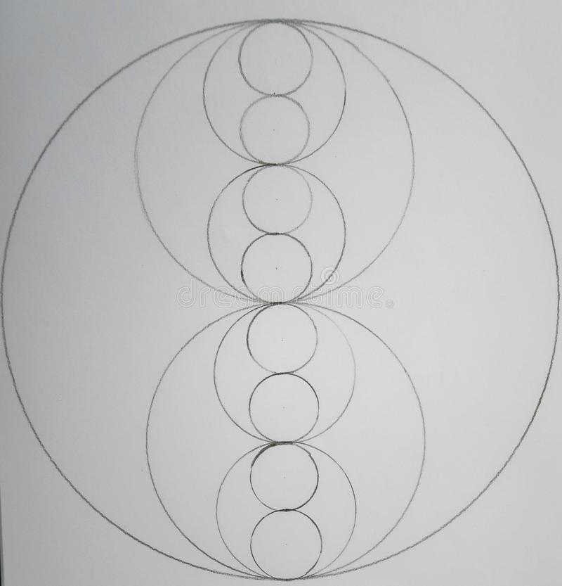 Círculos hechos de círculos imagenes de archivo