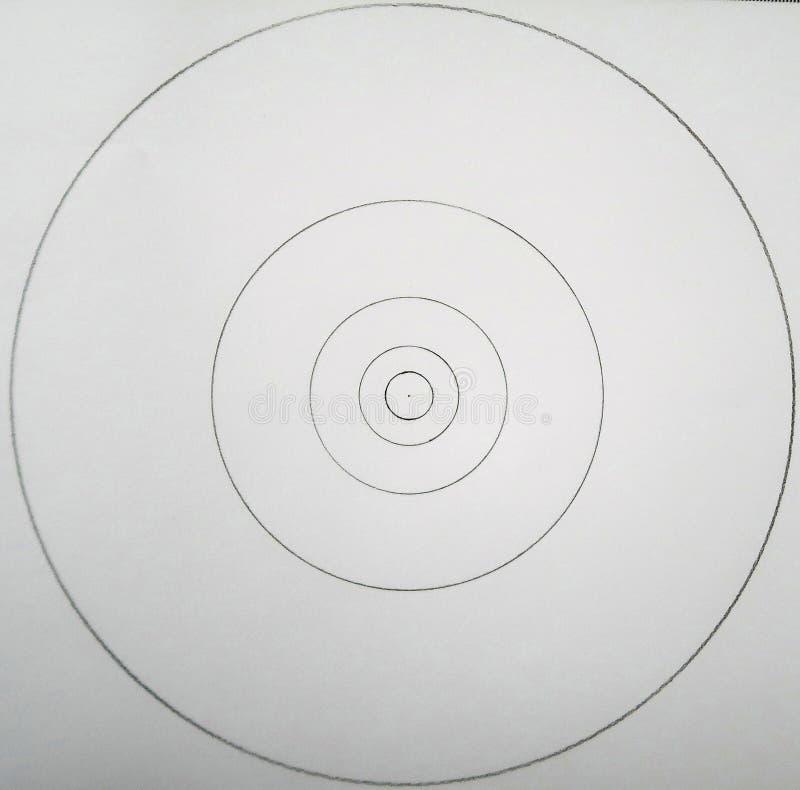Círculos hechos de círculos stock de ilustración