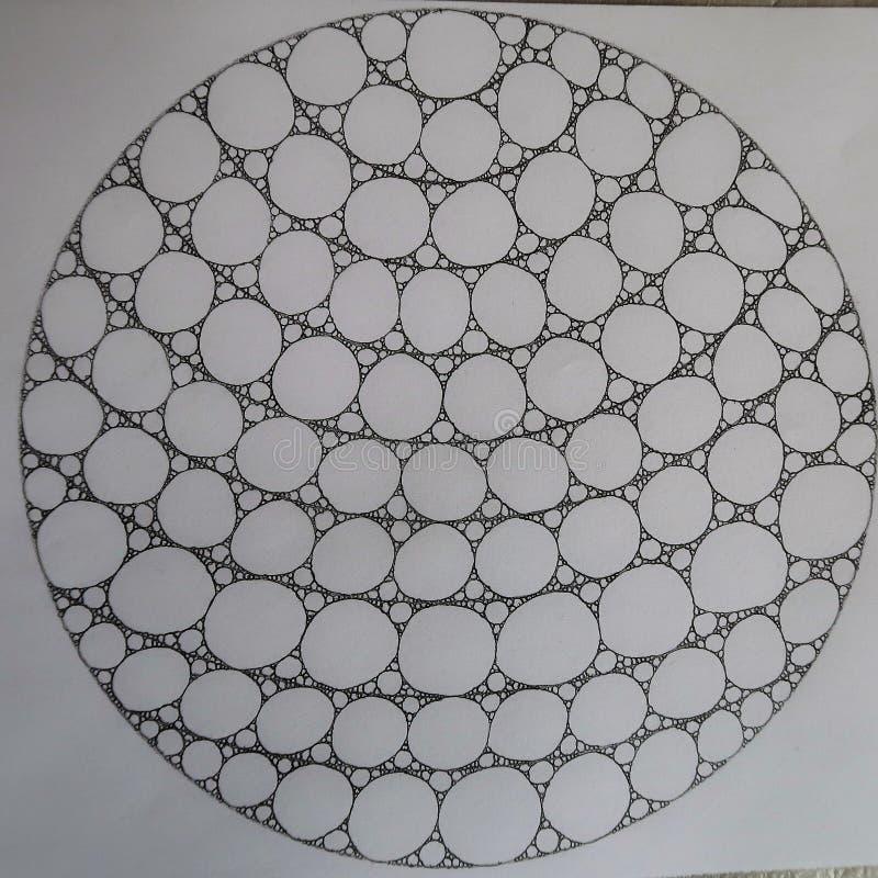 Círculos hechos de círculos y de elipses libre illustration