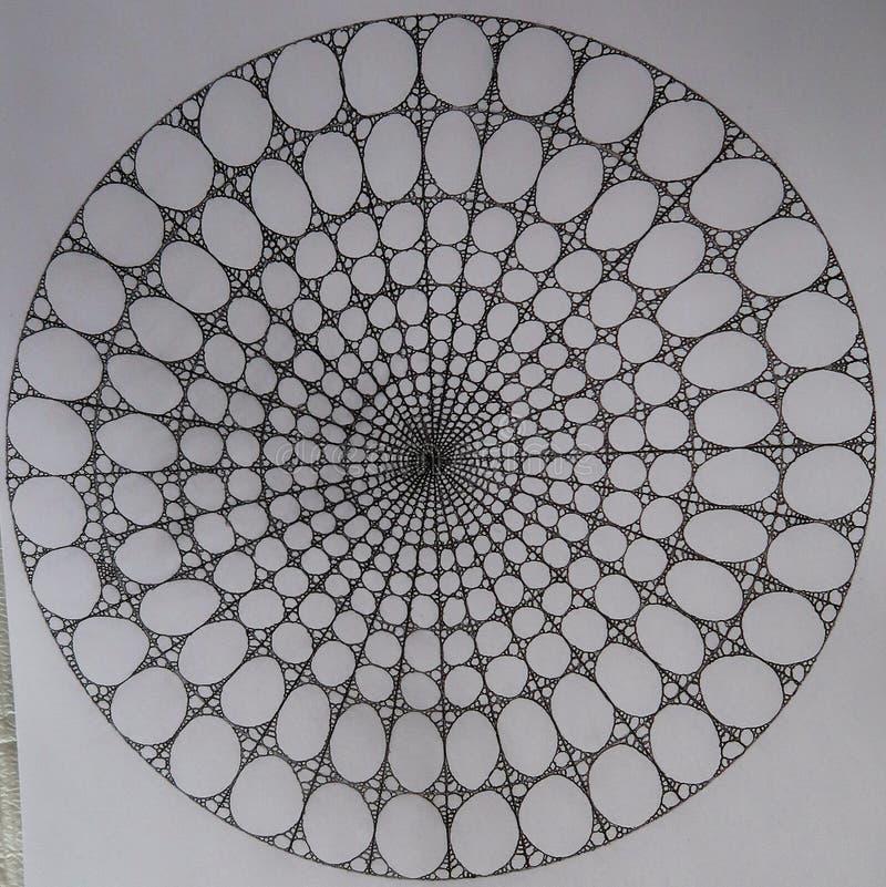 Círculos hechos de círculos y de elipses ilustración del vector