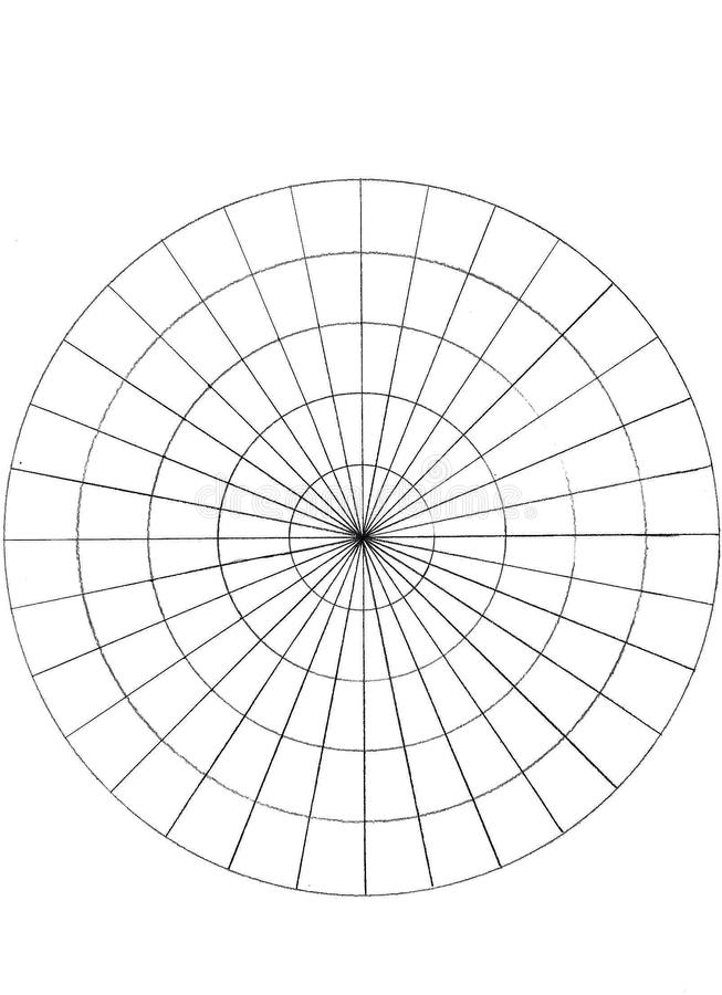 Círculos hechos de círculos y de ligns stock de ilustración