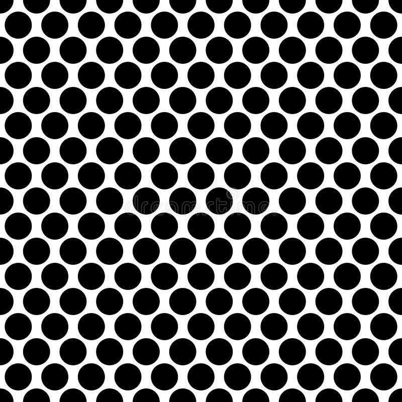 Círculos inconsútiles, modelo de puntos Lunar inconsútil repetible stock de ilustración
