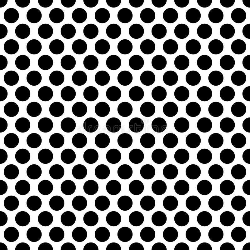 Círculos inconsútiles, modelo de puntos Lunar inconsútil repetible libre illustration