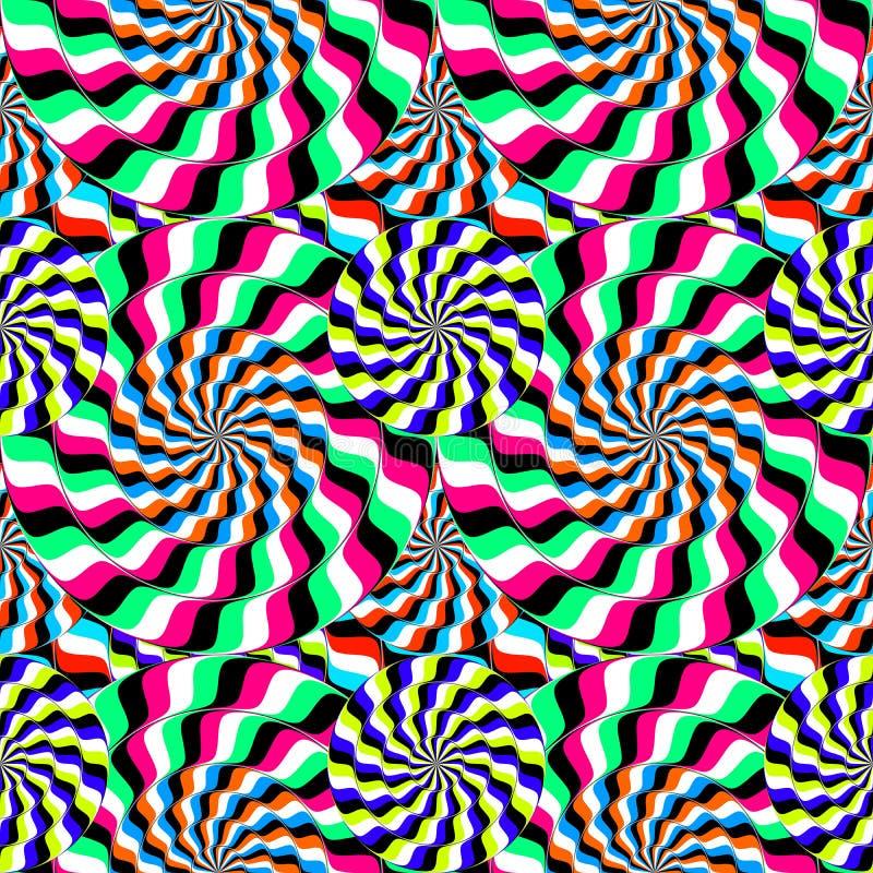 círculos móviles de la ilusión óptica ilustración del vector