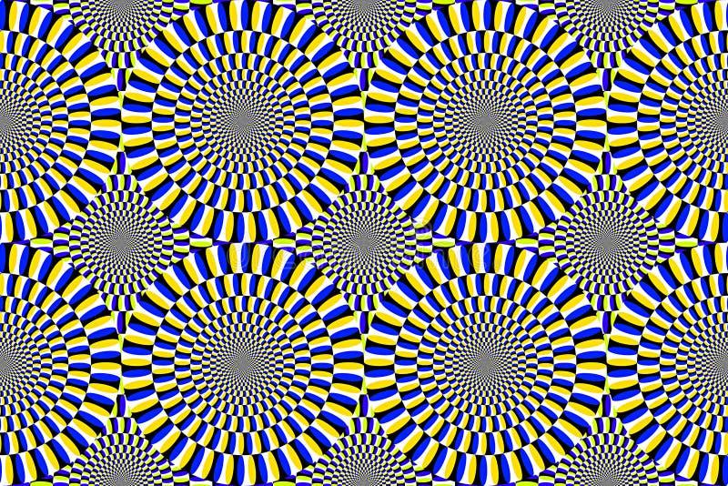 círculos móviles de la ilusión óptica stock de ilustración