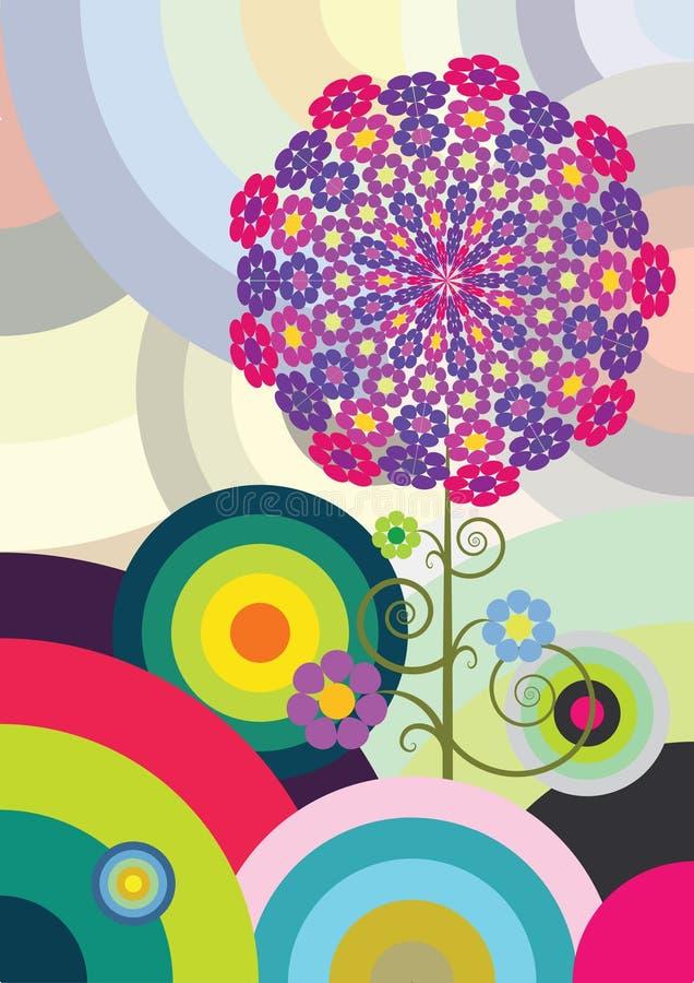 Círculos multicolores stock de ilustración