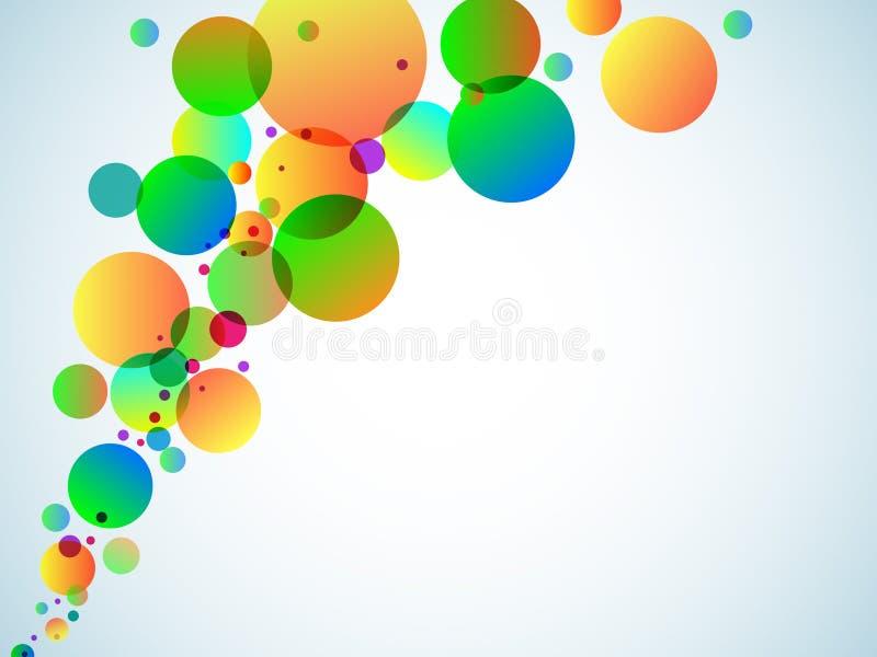 Círculos multicolores en un fondo blanco ilustración del vector