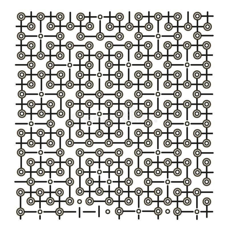 Círculos pretos, fundo da tecnologia ilustração stock