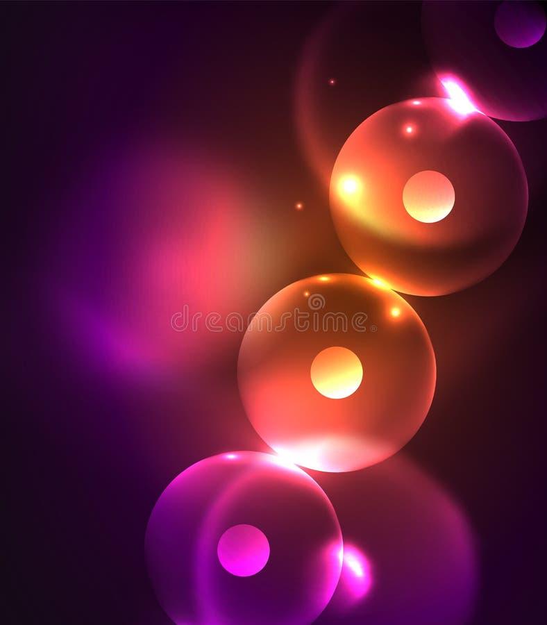 Círculos que brillan intensamente Blurred, fondo abstracto digital libre illustration