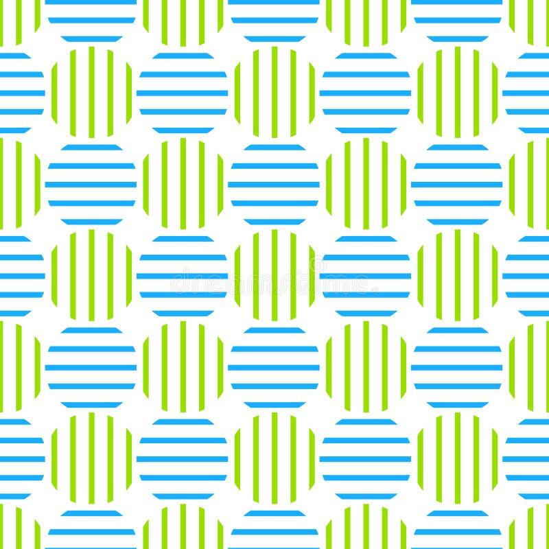 Círculos rayados retros inconsútiles ilustración del vector