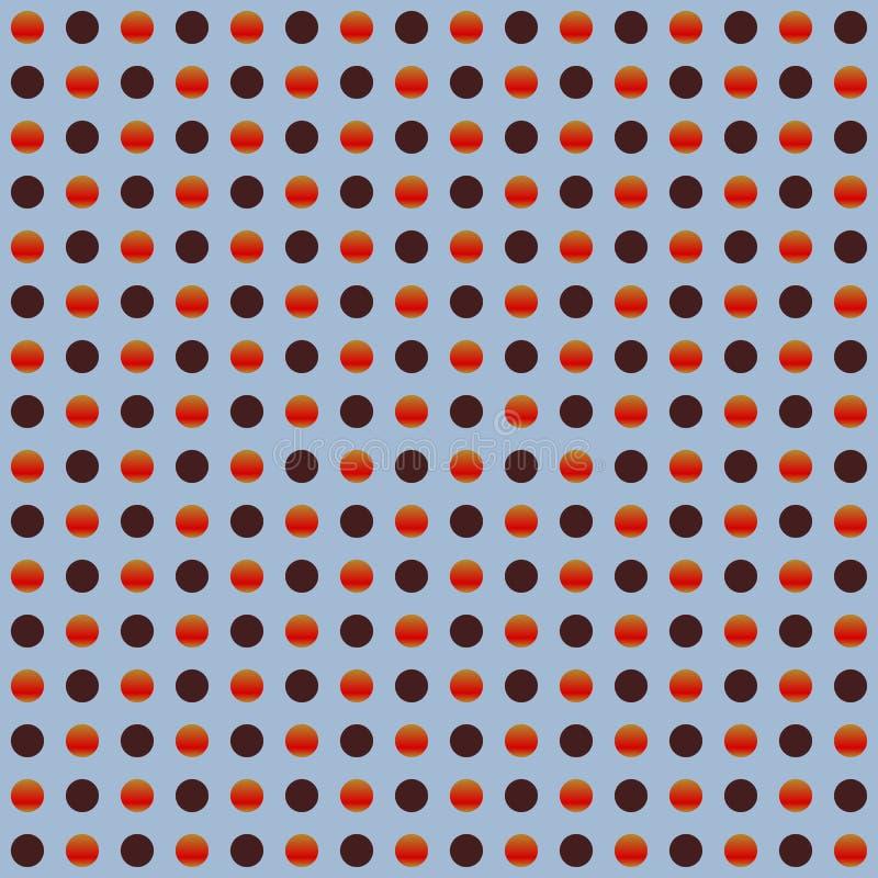 Círculos repetibles, modelo de puntos Textura colorida/multicolora stock de ilustración