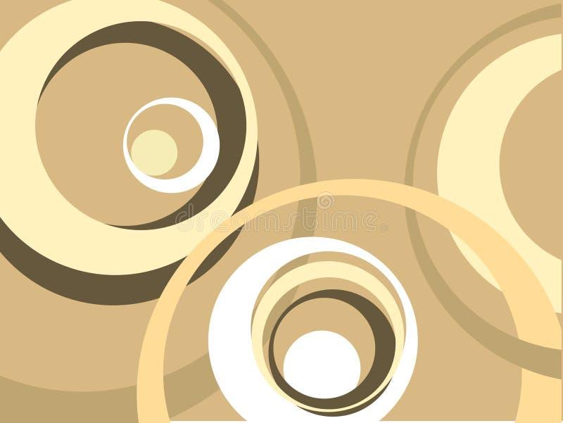 Círculos retros ilustração stock
