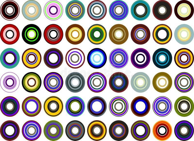 Círculos retros stock de ilustración