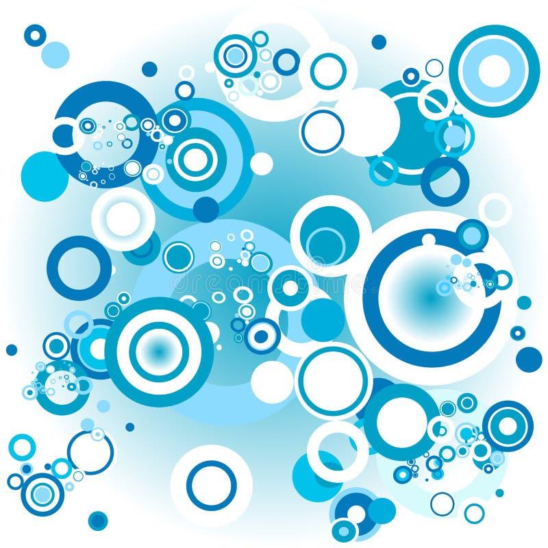 Círculos retros azuis ilustração do vetor