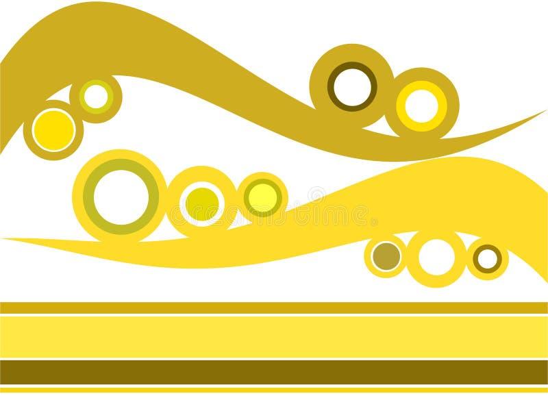 Círculos retros e ondas ilustração do vetor