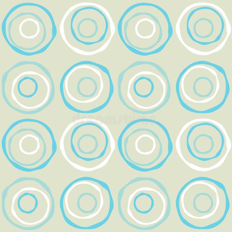 Círculos retros inconsútiles ilustración del vector