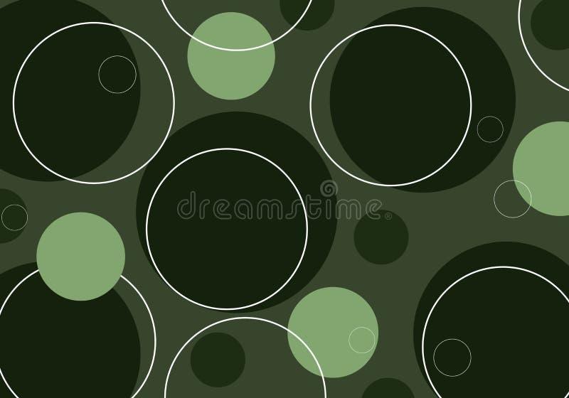 Círculos retros - verde ilustración del vector