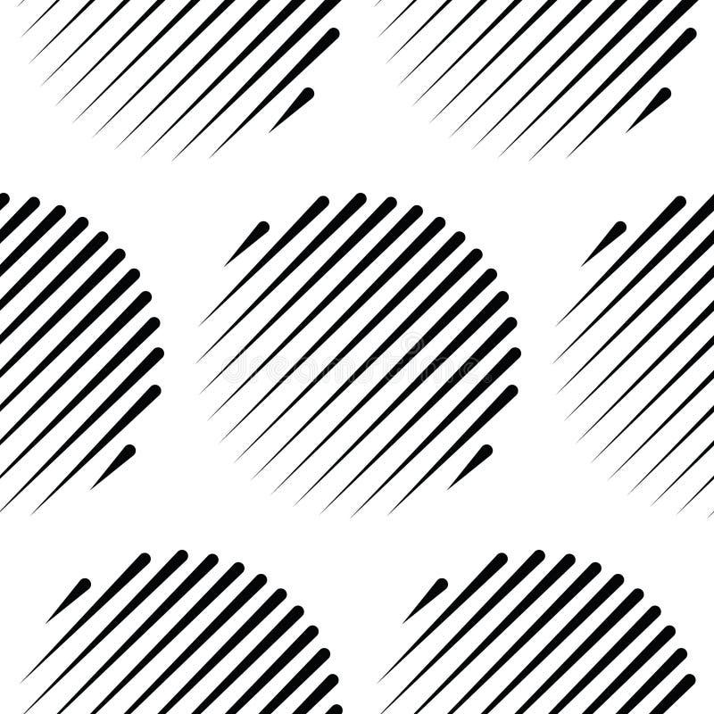 Círculos sem emenda, geométrico sem emenda, geo, teste padrão ilustração stock