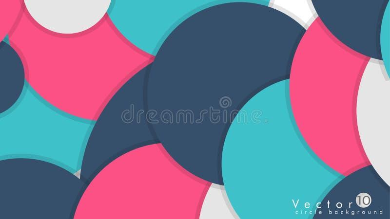 Círculos simples y coloridos fondo, vector del diseño ilustración del vector