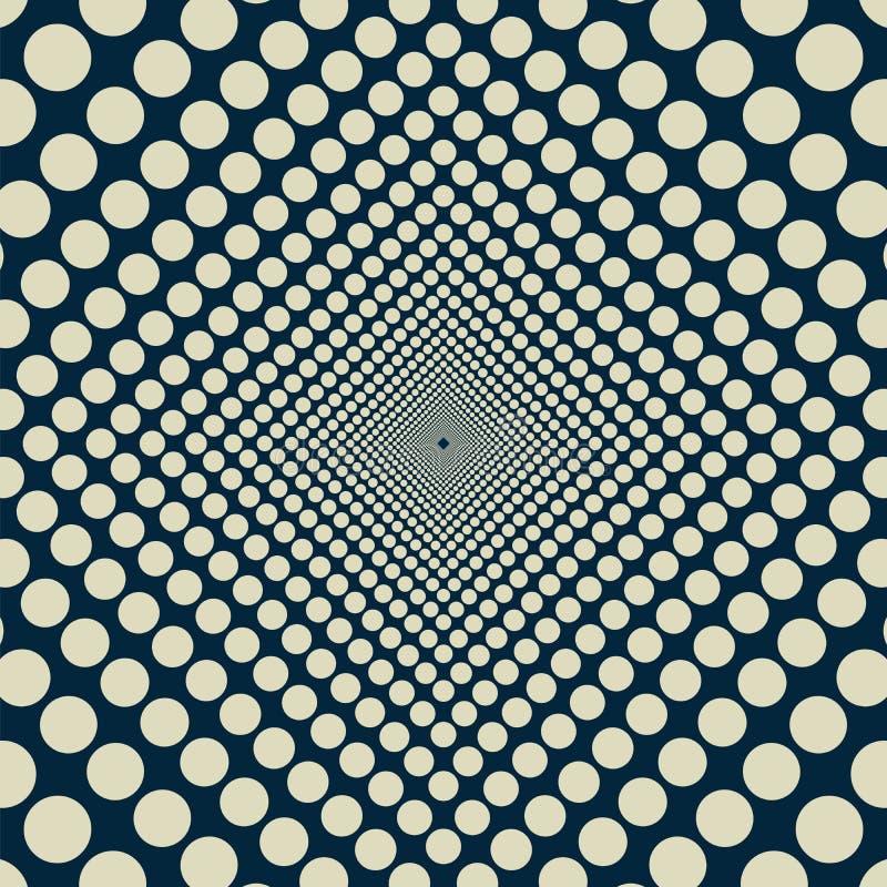 Círculos uniformemente de diminuição infinitos ilustração do vetor