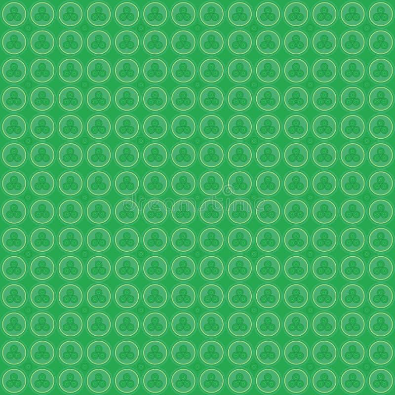 Círculos verdes geométricos do teste padrão imagens de stock