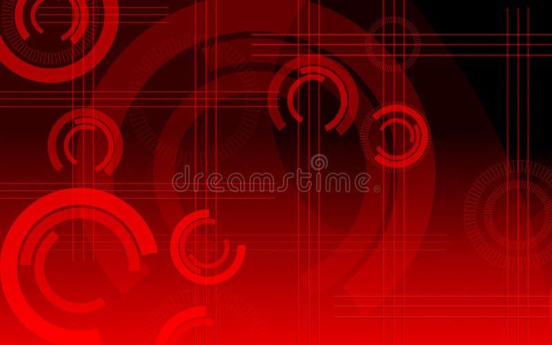 Círculos vermelhos ilustração stock