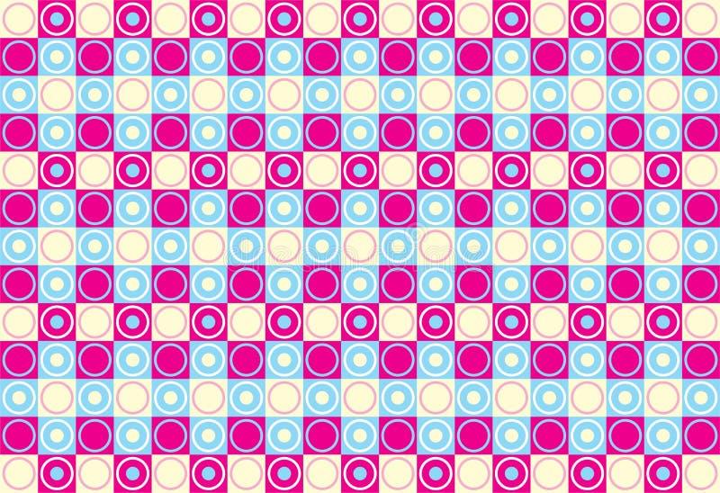 Círculos y cuadrados stock de ilustración