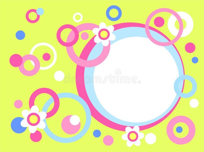 Círculos y flores ilustración del vector