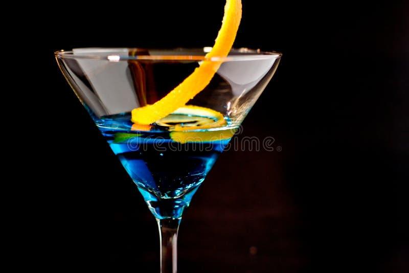 Cóctel azul foto de archivo