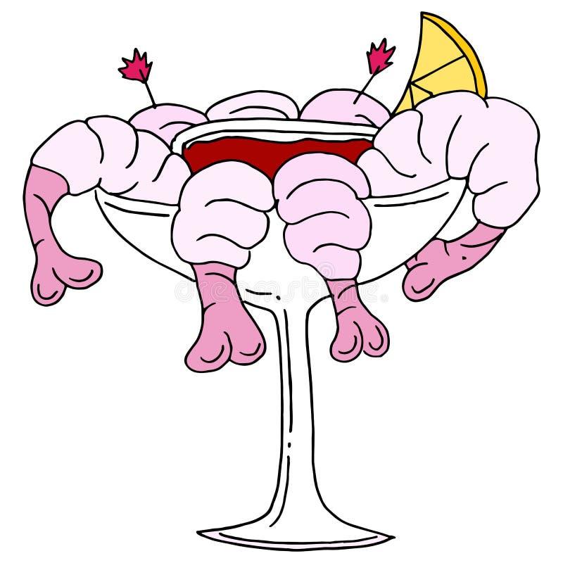 Cóctel de camarón ilustración del vector