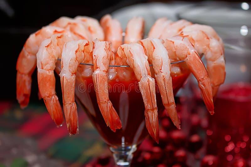 Cóctel de camarón orgánico fresco imágenes de archivo libres de regalías