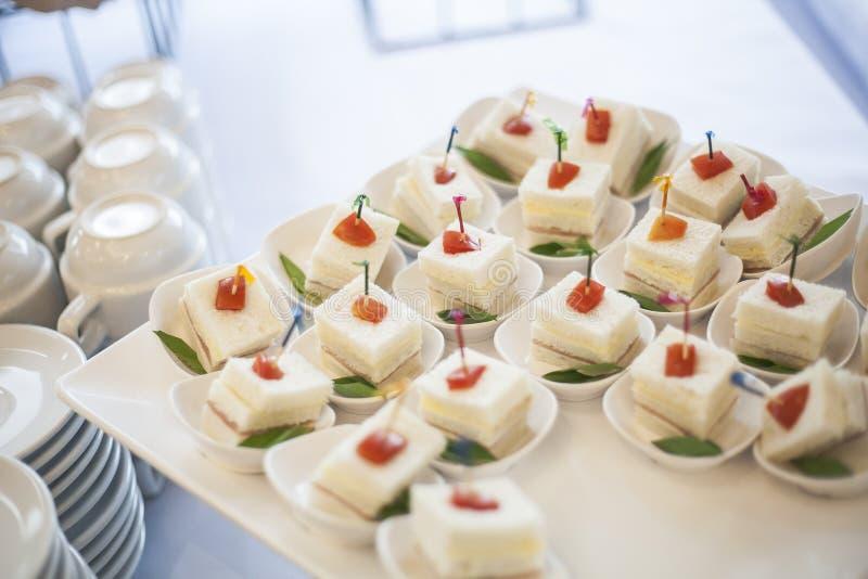 Cóctel de la comida en partido imagenes de archivo