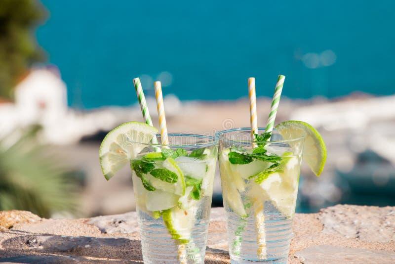 Cóctel del agua de soda de la bebida del verano imagenes de archivo