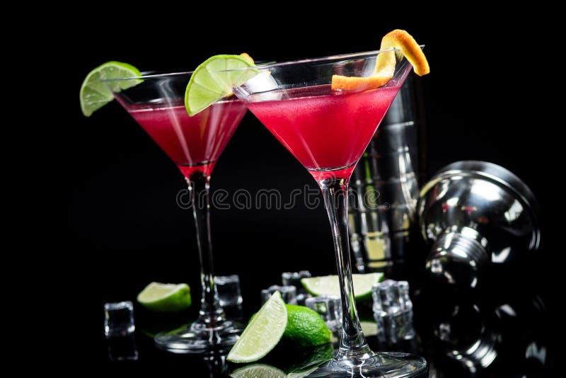 Cóctel del alcohol cosmopolita foto de archivo libre de regalías