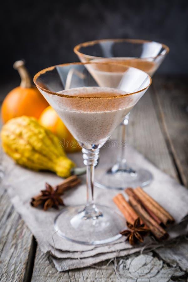 Cóctel del canela de martini del otoño imagen de archivo libre de regalías