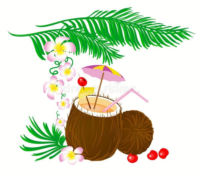 Download Cóctel del coco ilustración del vector. Ilustración de coco - 42425395