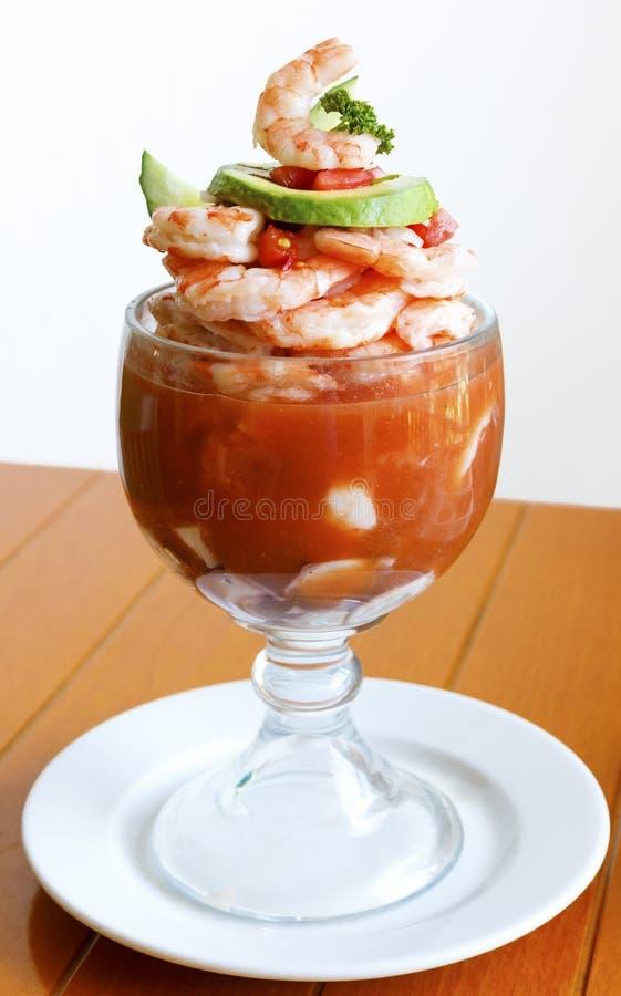 Cóctel mexicano del seafod del estilo foto de archivo