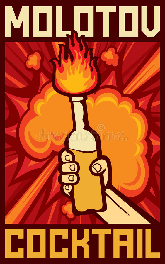 Cóctel molotov libre illustration