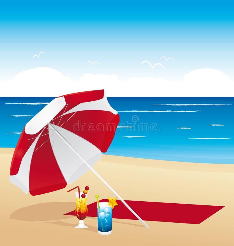 Cócteles en la playa libre illustration