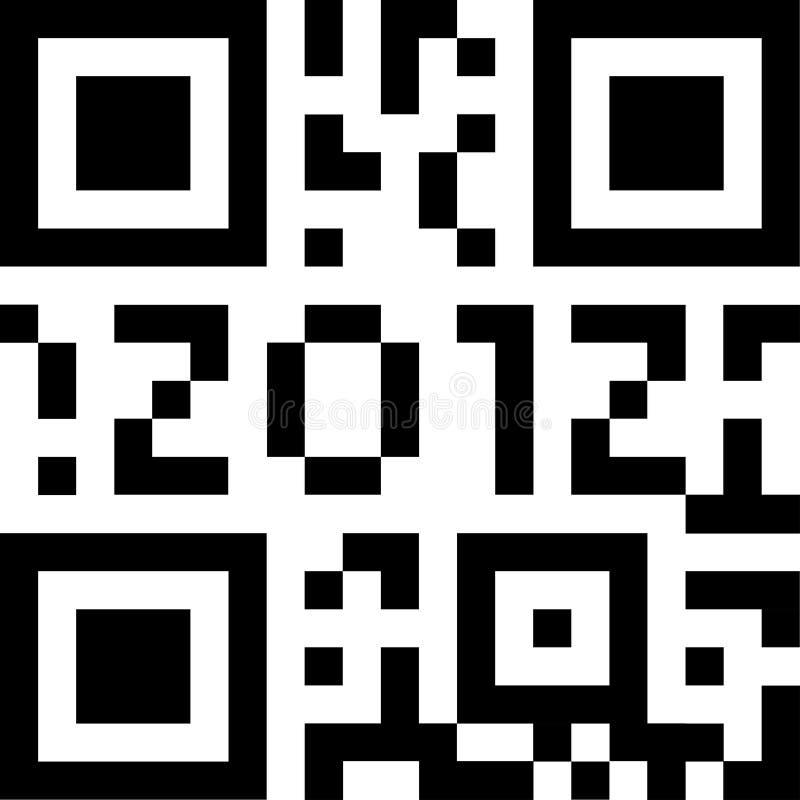 Código 2012 de Qr ilustração royalty free